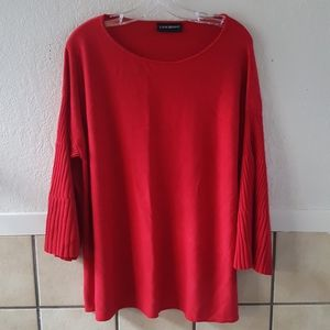 Lane Bryant bright red bell sleeve sweater